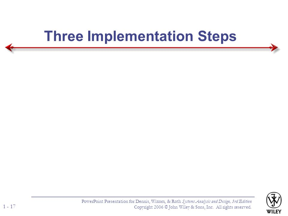 Three Implementation Steps