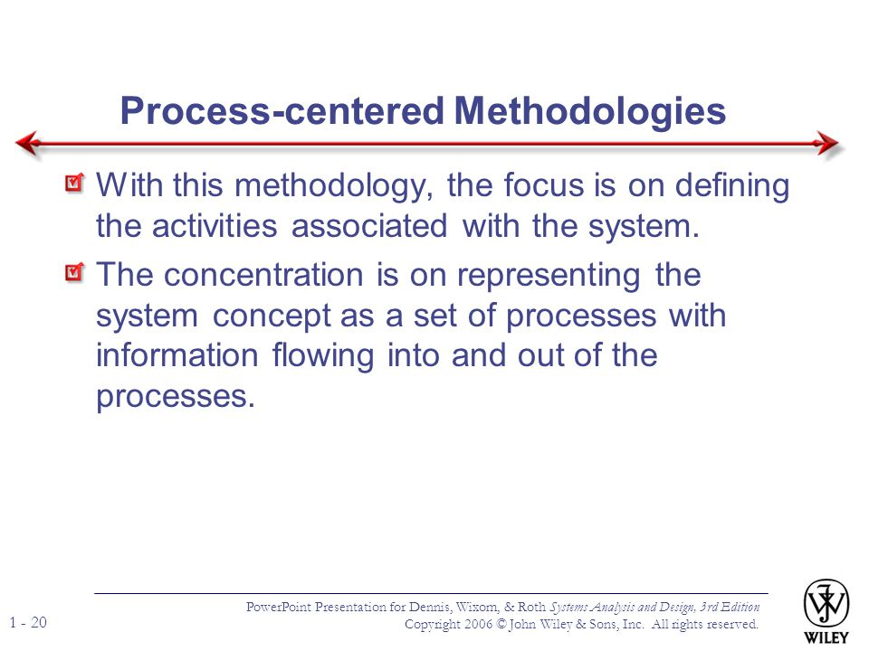 Process-centered Methodologies