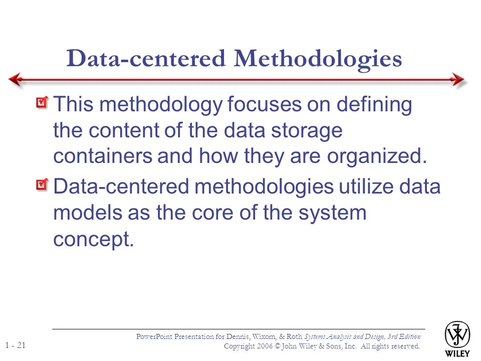 Data-centered Methodologies