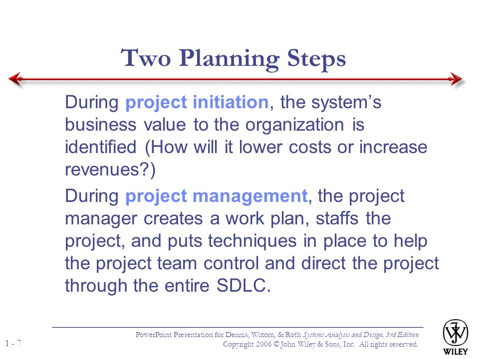Two Planning Steps