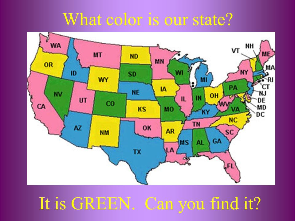 It is GREEN. Can you find it