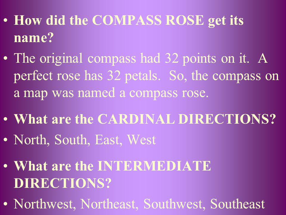 How did the COMPASS ROSE get its name
