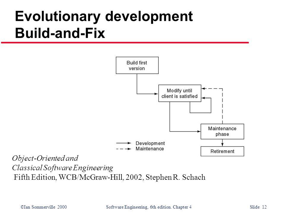 Evolutionary development Build-and-Fix