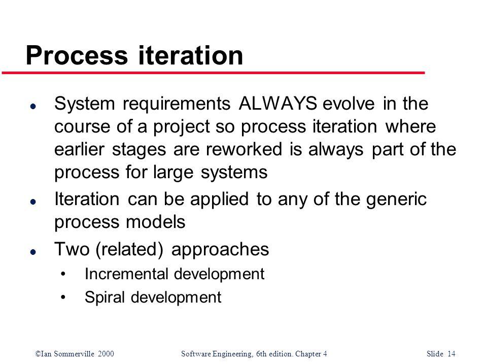 Process iteration