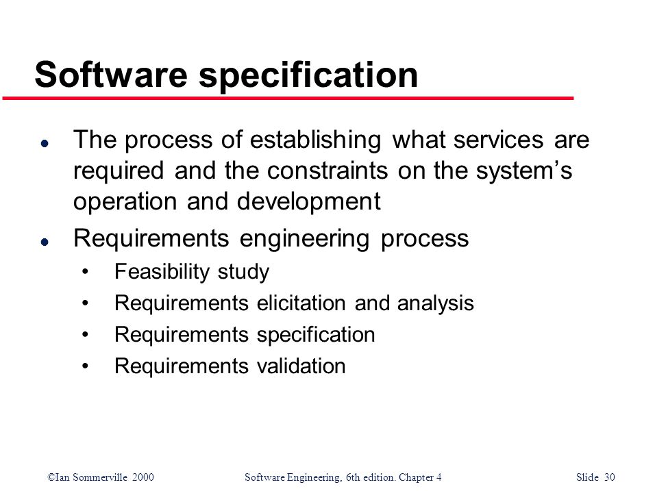 Software specification