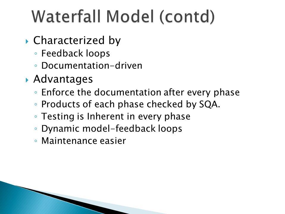 Waterfall Model (contd)