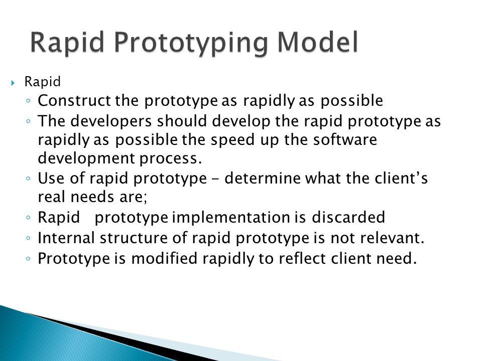 Rapid Prototyping Model