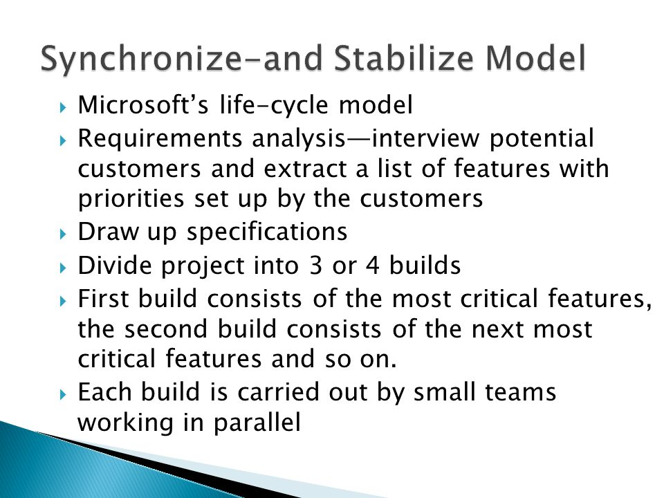 Synchronize-and Stabilize Model