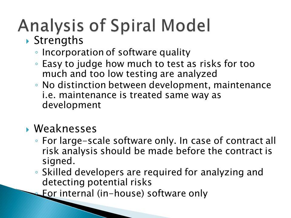 Analysis of Spiral Model