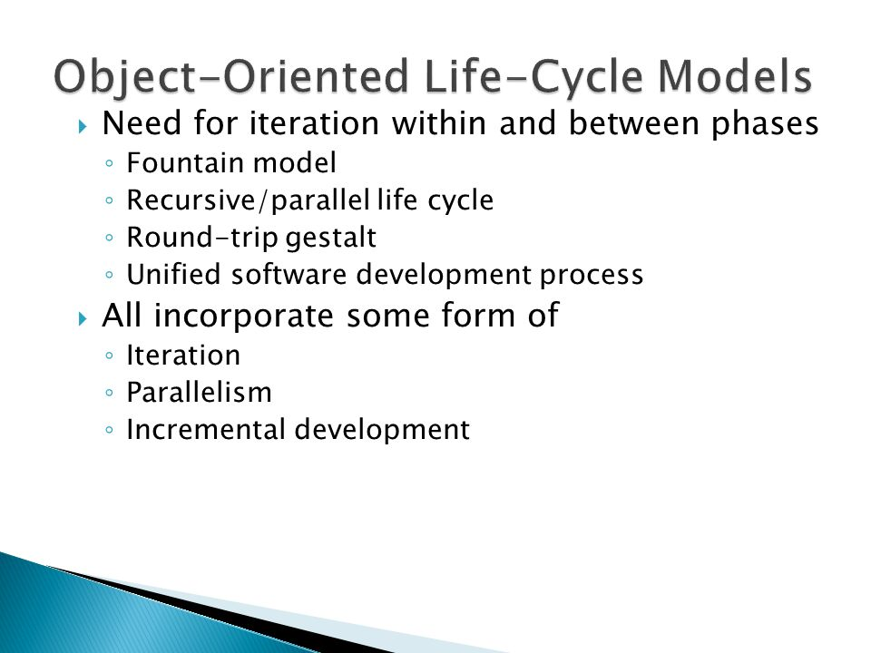 Object-Oriented Life-Cycle Models
