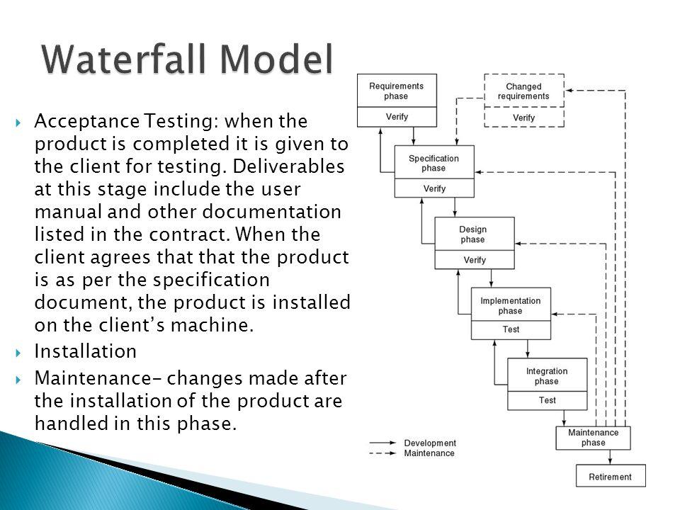 waterfall model in testing pdf