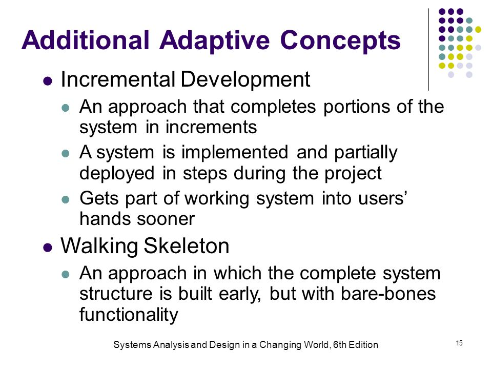 Additional Adaptive Concepts