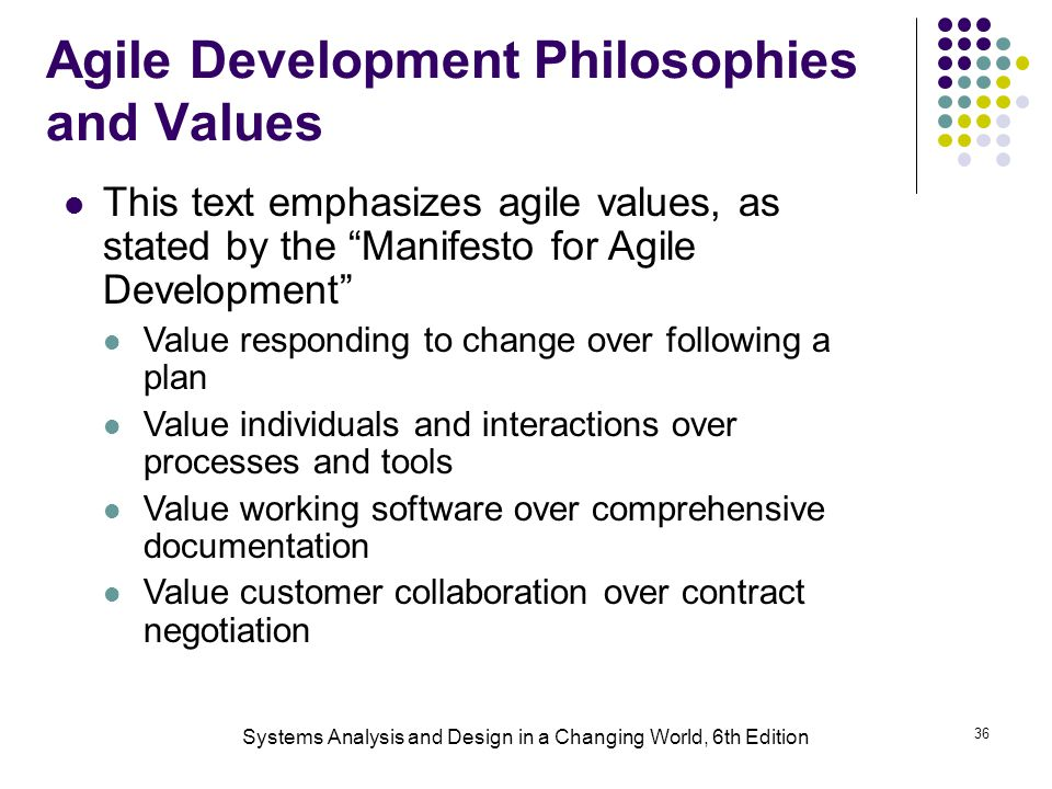 Agile Development Philosophies and Values