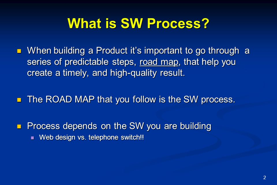 What is SW Process
