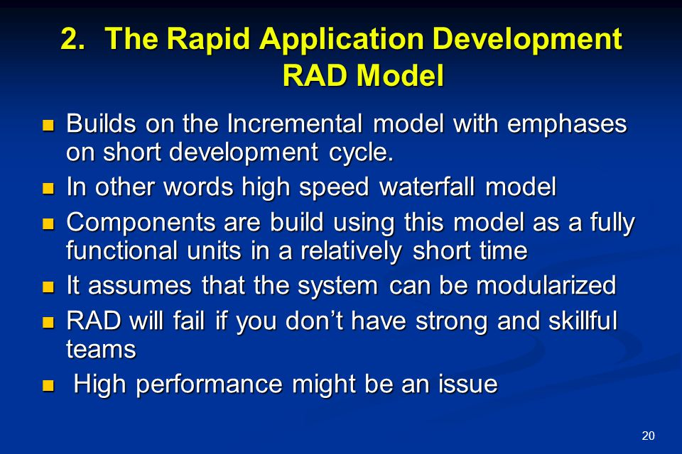 The Rapid Application Development RAD Model