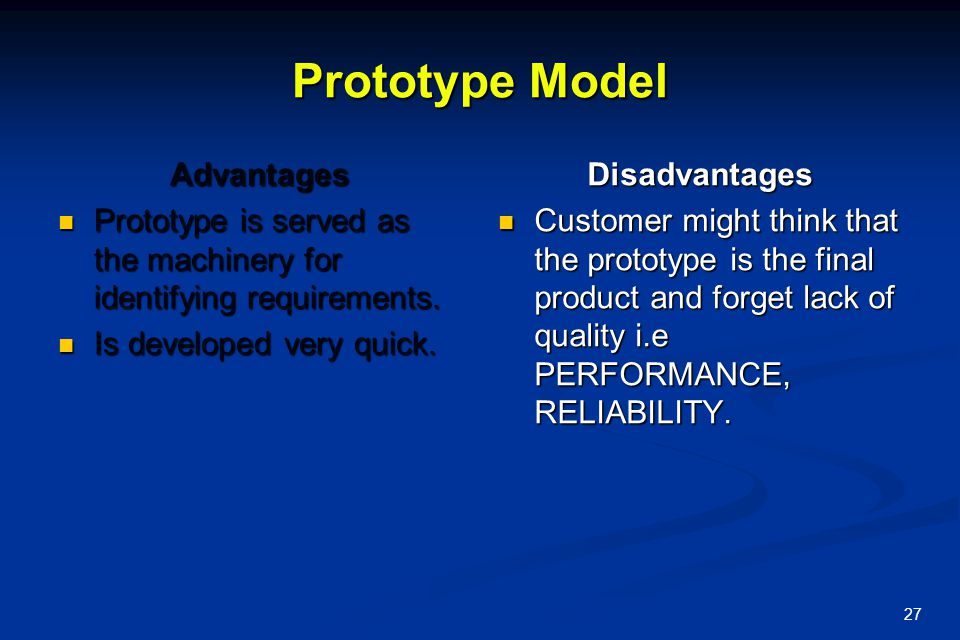 Prototype Model Advantages