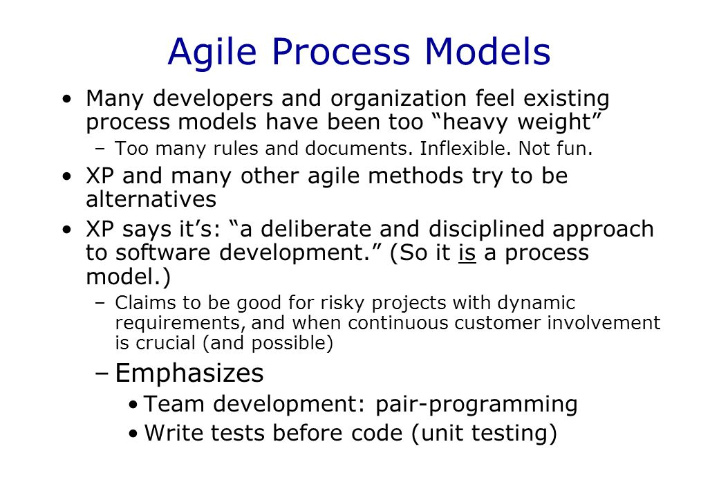 Agile Process Models Emphasizes