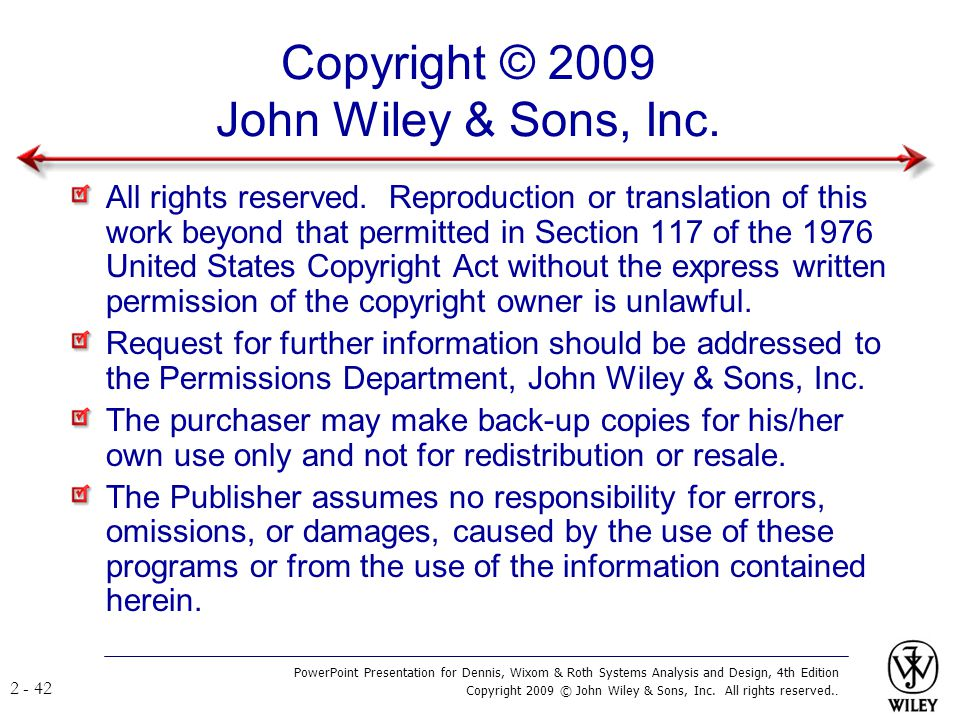 Copyright © 2009 John Wiley & Sons, Inc.