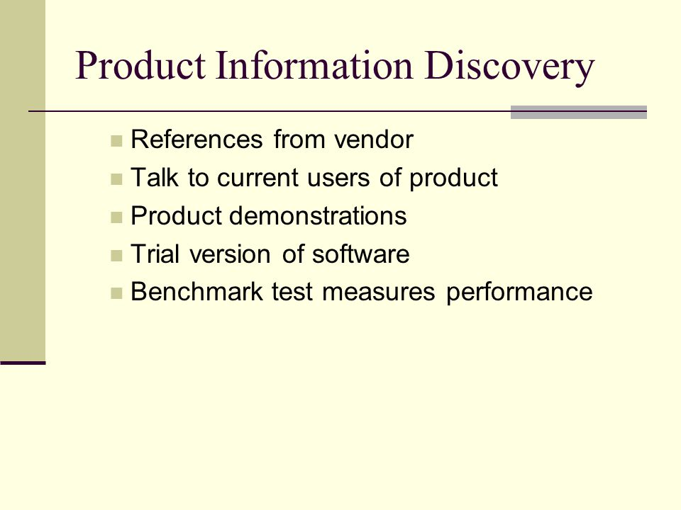 Product Information Discovery