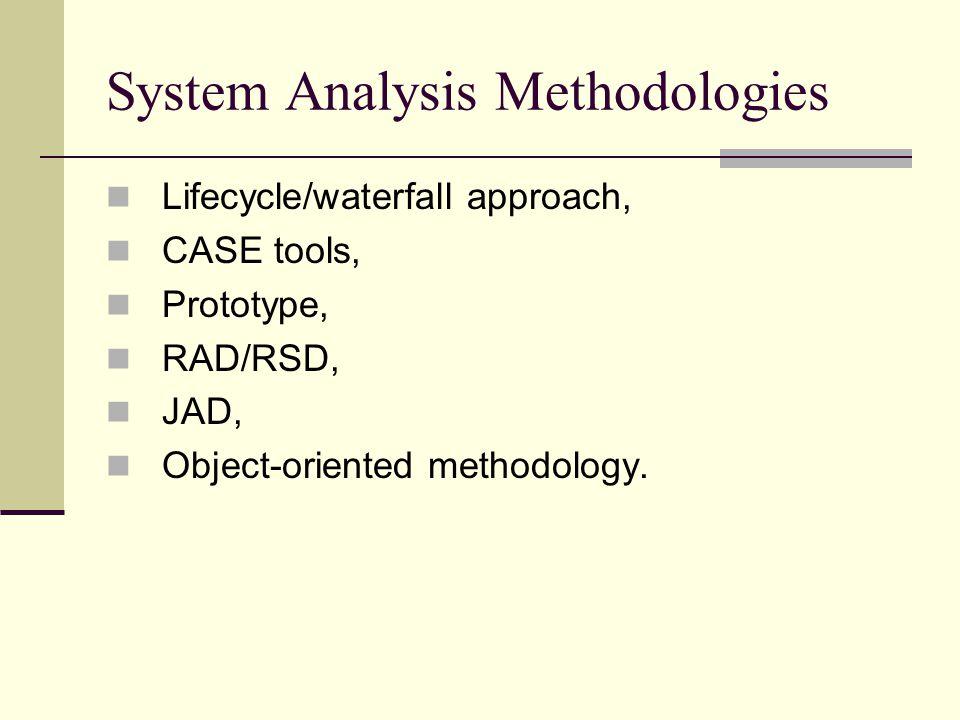 System Analysis Methodologies