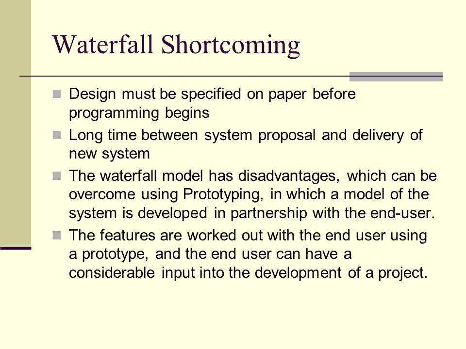 Waterfall Shortcoming
