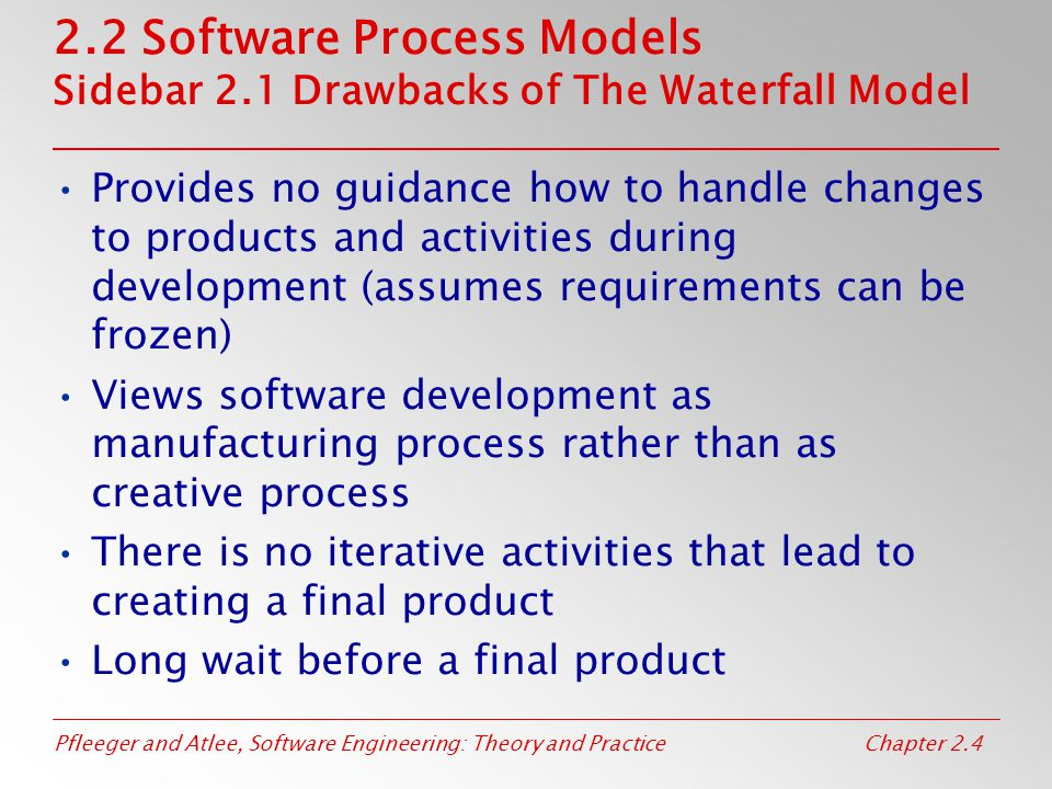 2. 2 Software Process Models Sidebar 2