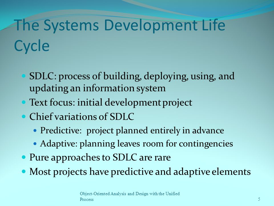 The Systems Development Life Cycle