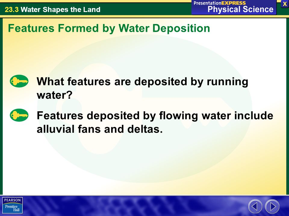 Features Formed by Water Deposition