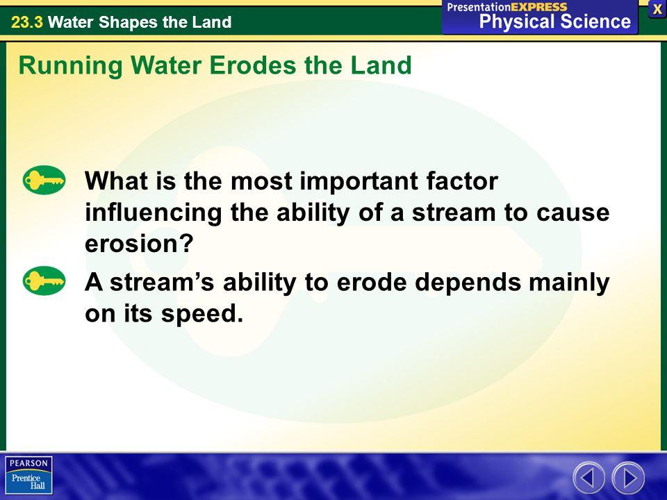 Running Water Erodes the Land