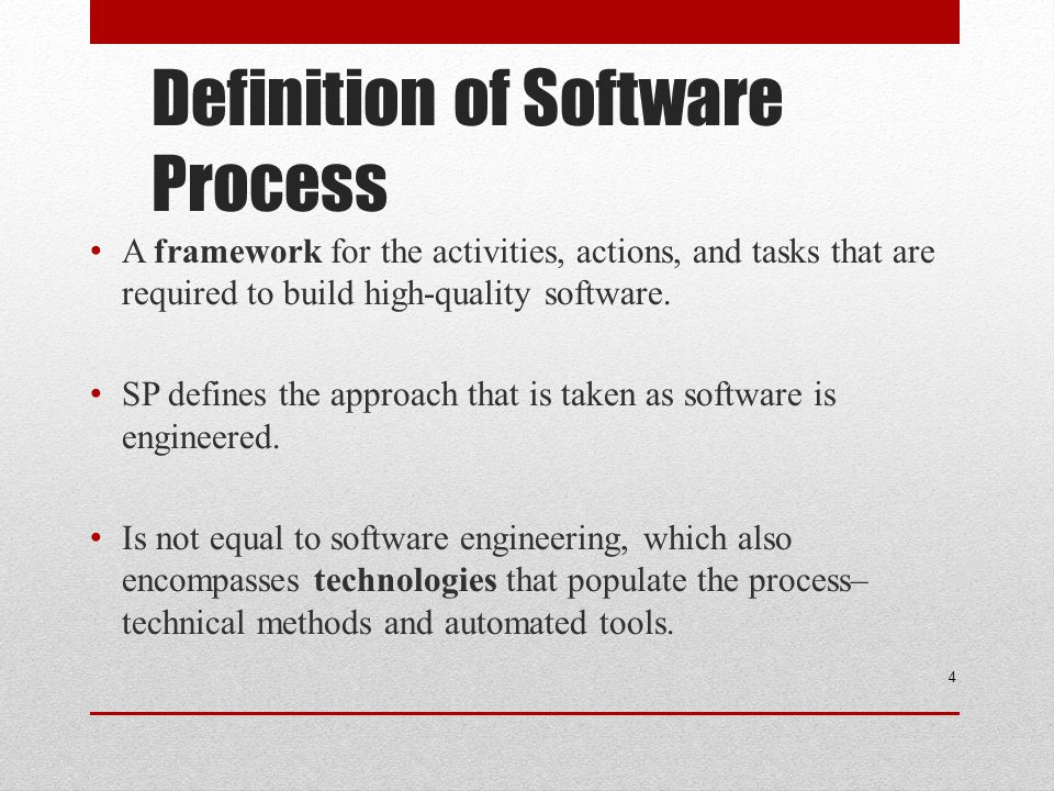 Definition of Software Process
