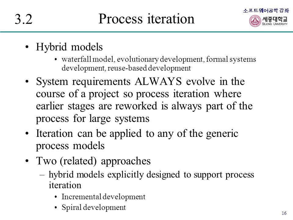 3.2 Process iteration Hybrid models
