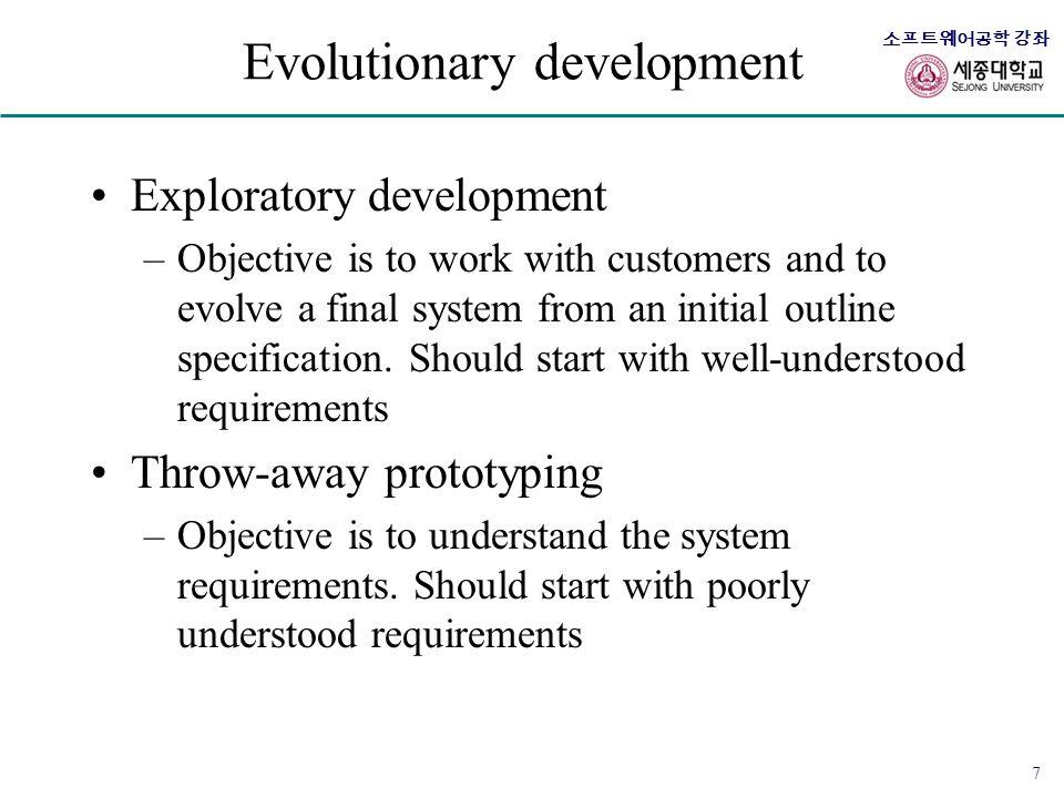 Evolutionary development