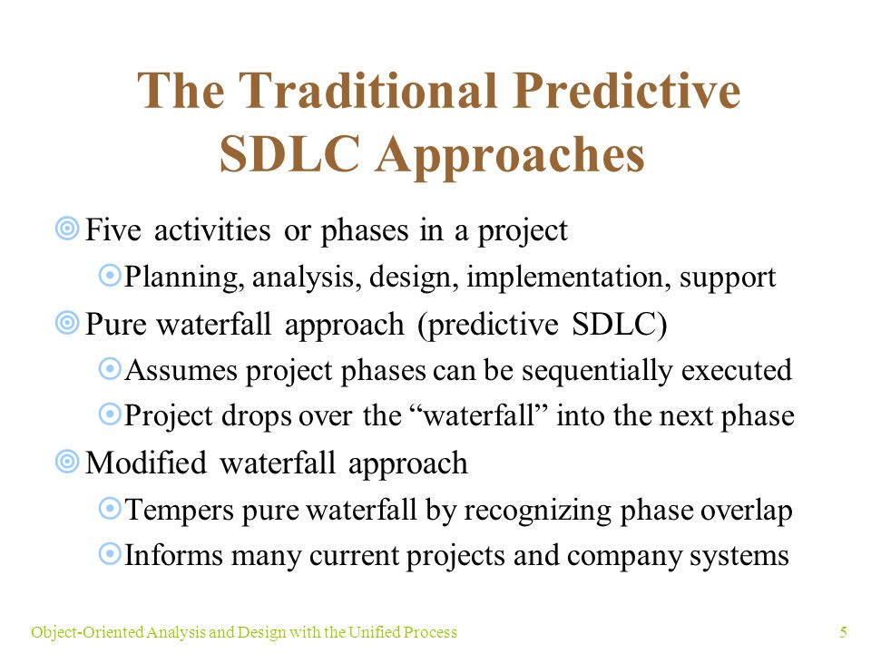 The Traditional Predictive SDLC Approaches