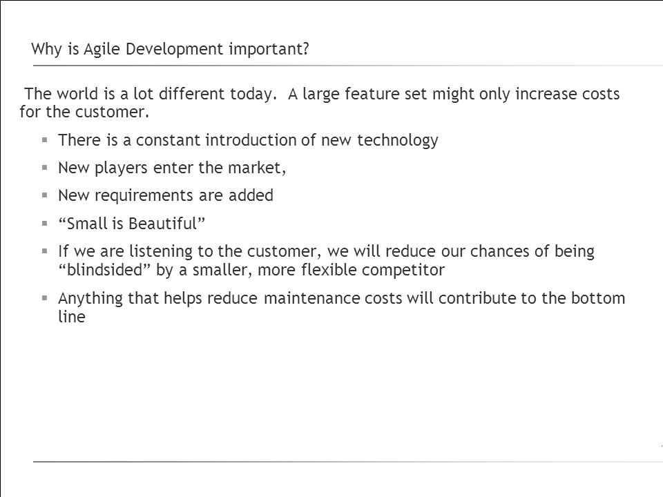 Why is Agile Development important