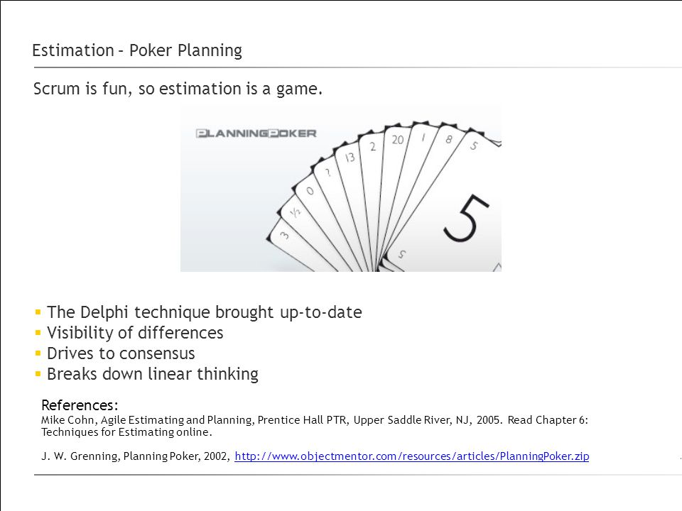 Estimation – Poker Planning