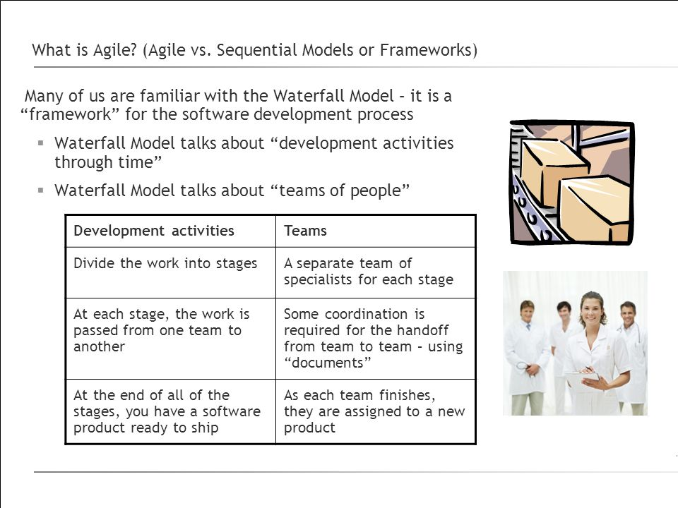 What is Agile (Agile vs. Sequential Models or Frameworks)