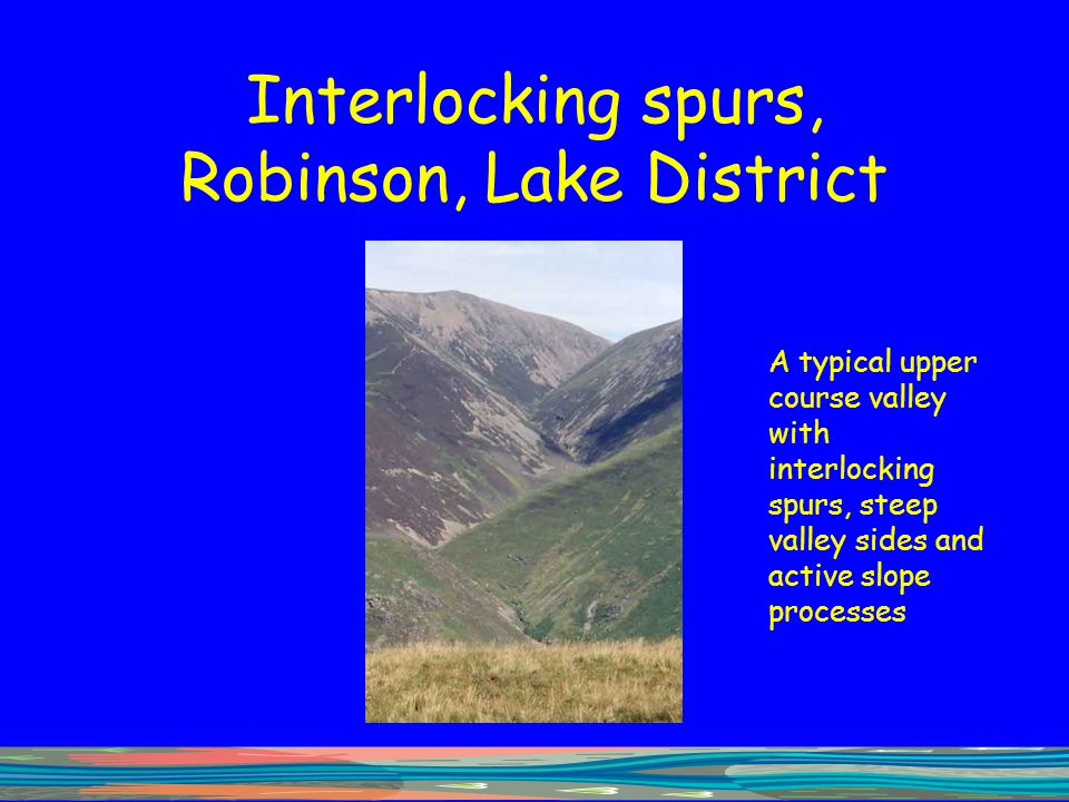 Interlocking spurs, Robinson, Lake District