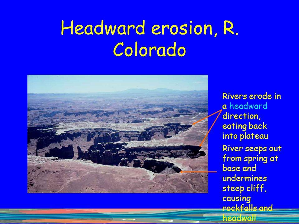 Headward erosion, R. Colorado