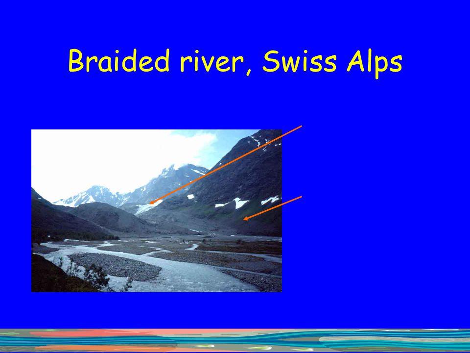 Braided river, Swiss Alps