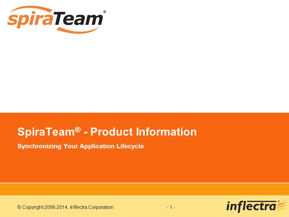 SpiraTeam® - Product Information