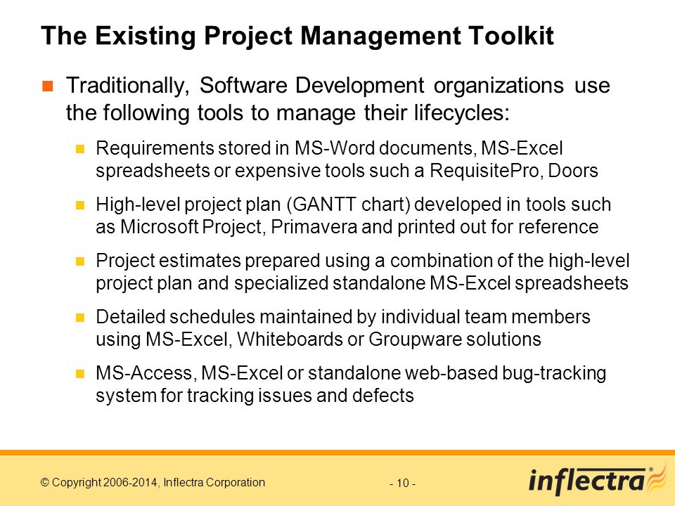 The Existing Project Management Toolkit