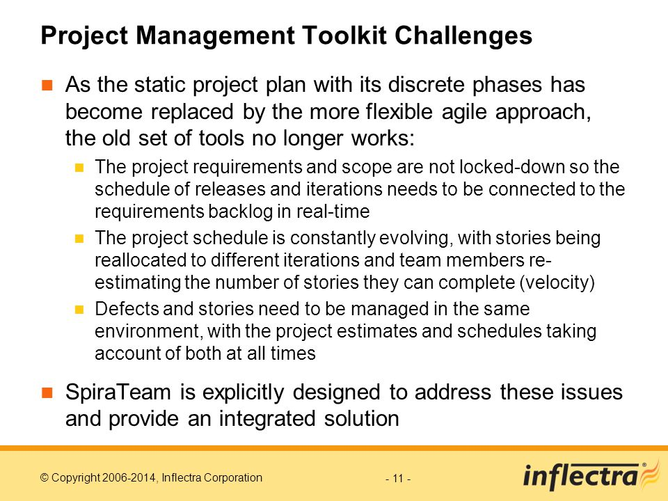 Project Management Toolkit Challenges