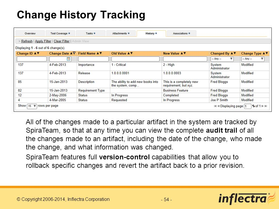 Change History Tracking