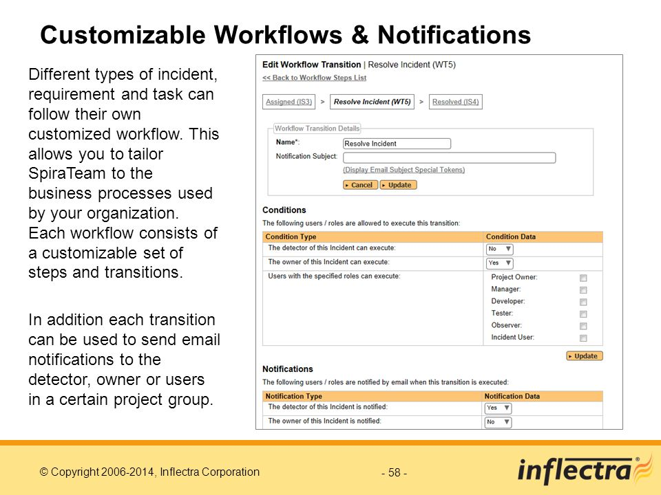 Customizable Workflows & Notifications