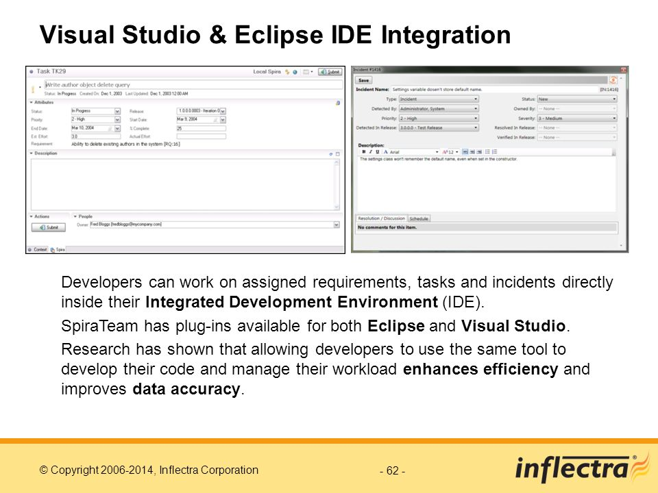 Visual Studio & Eclipse IDE Integration