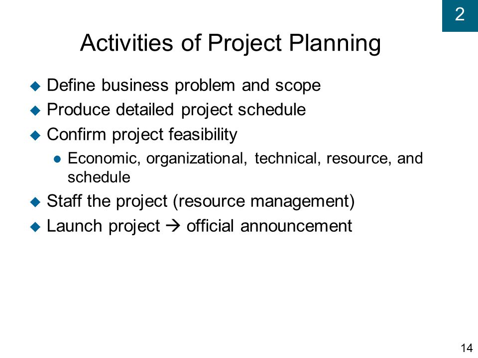 Activities of Project Planning