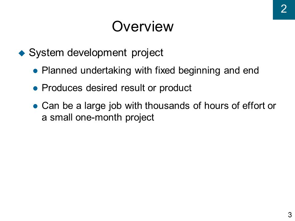 Overview System development project