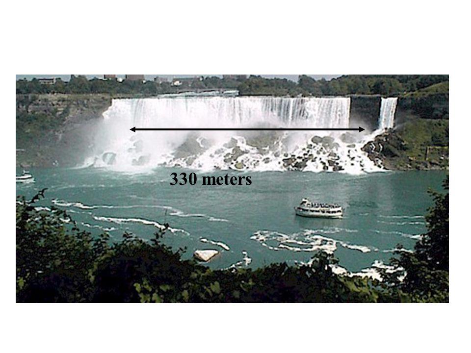 American Bridal Falls 330 meters