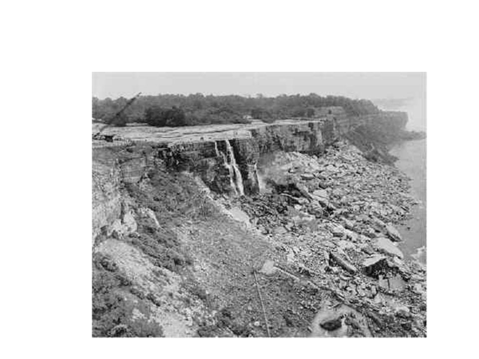 The Falls were stopped in 1969 to see if debris could be removed to improve the look !!