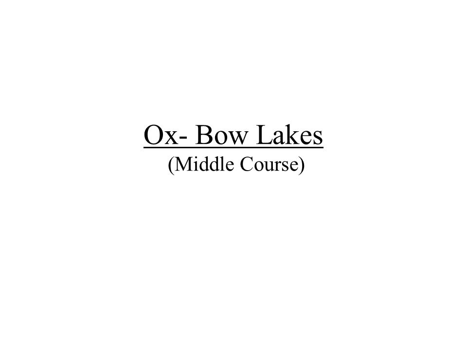 Ox- Bow Lakes (Middle Course)